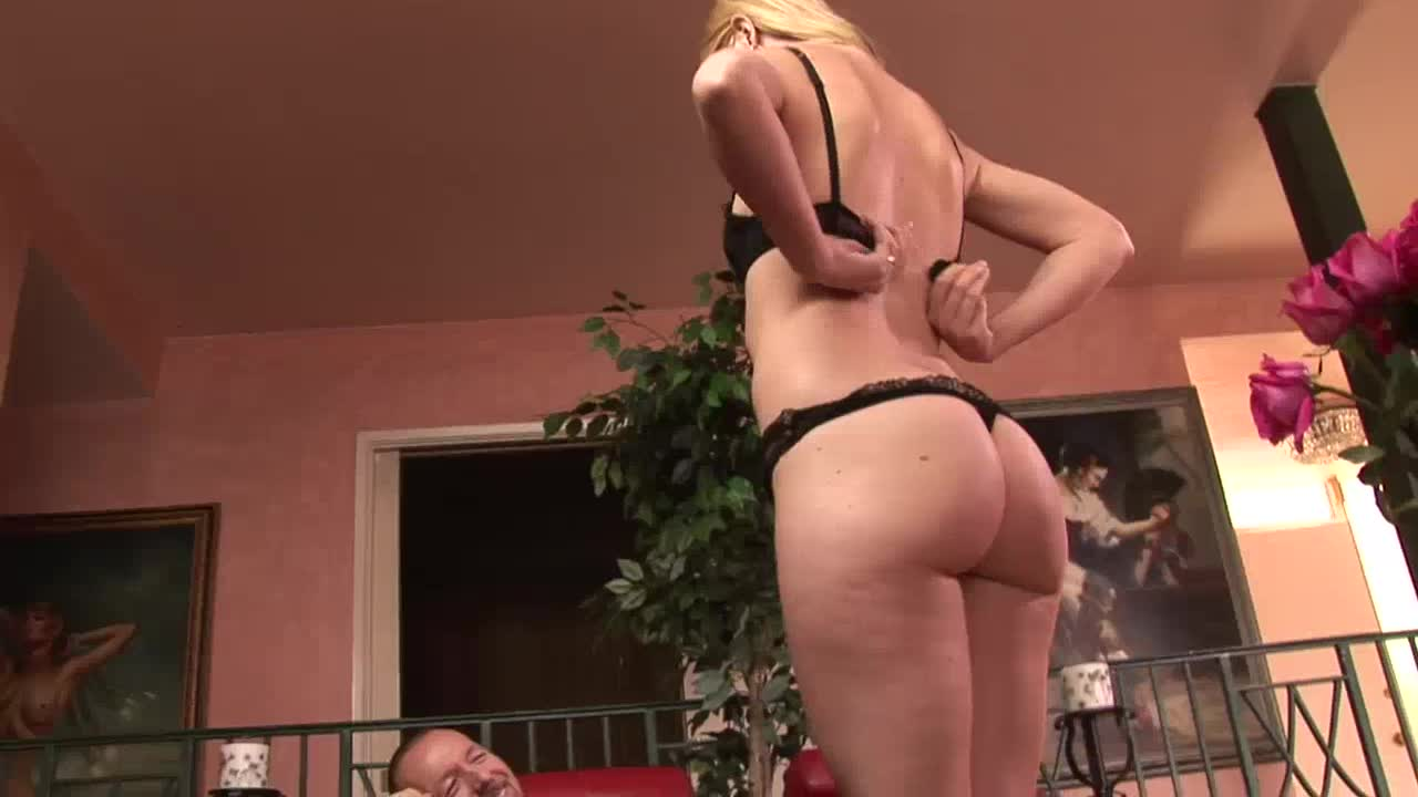 Escort girl rides on old cock