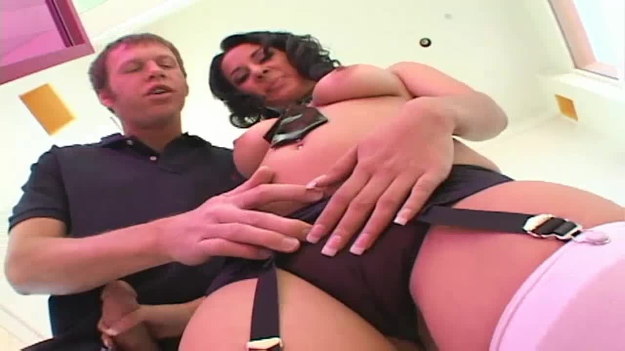 Black haired bitch loves cock