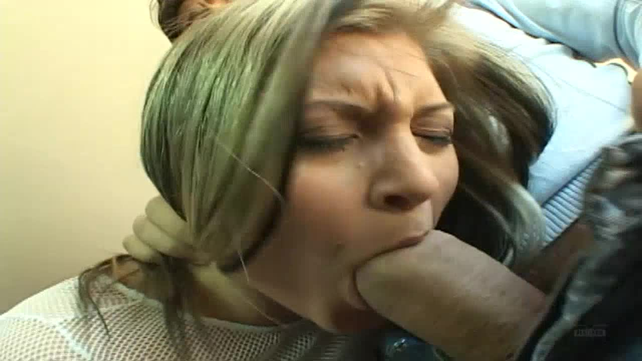 Hardcore threesome sex scene with a big ass girl