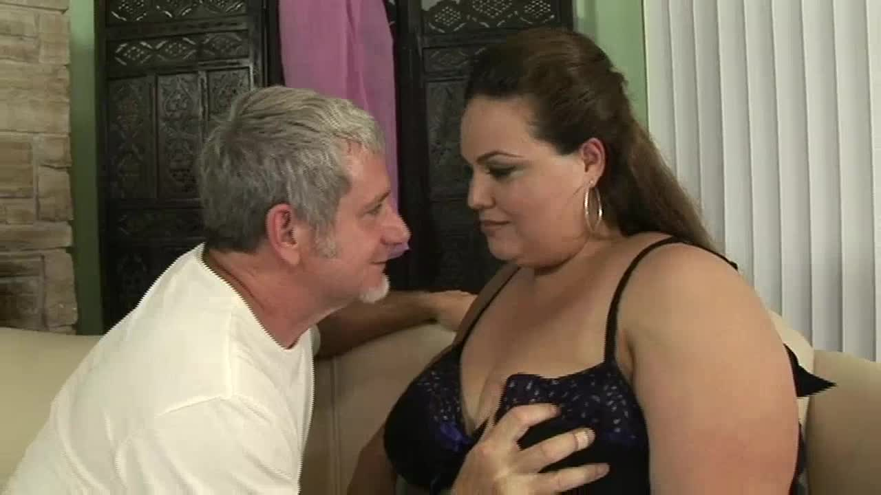 Big beautiful woman (BBW) having sex with an older man